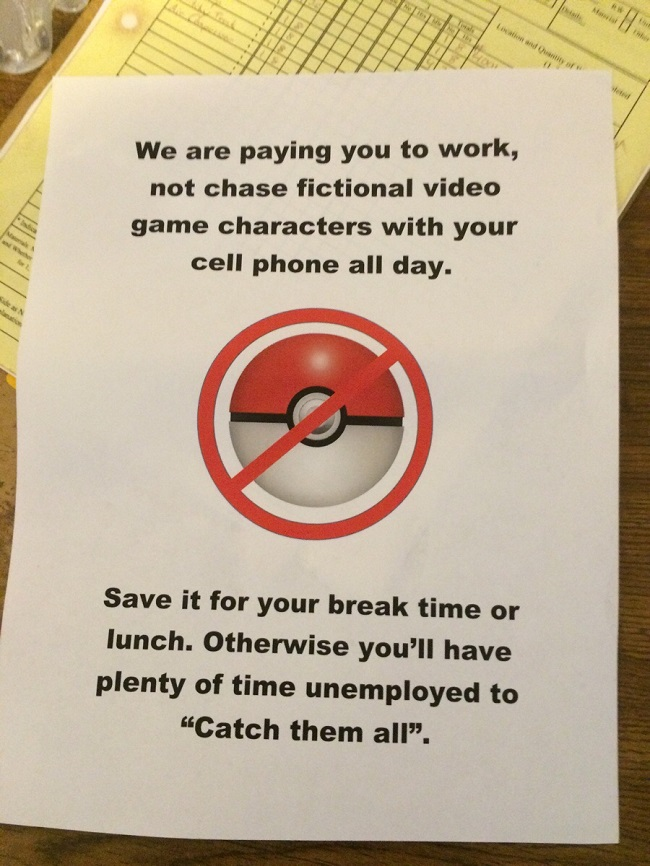 Pokemon Go at work