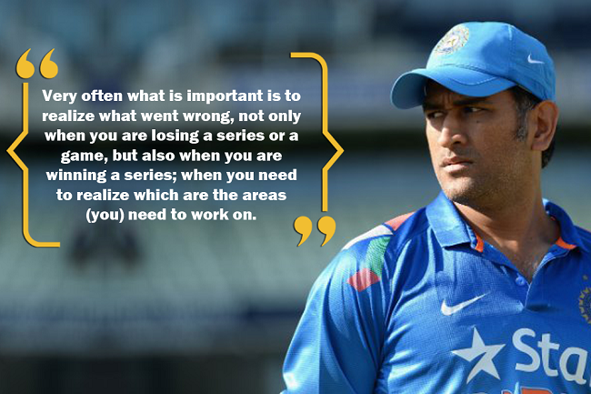 Quotes On Importance Of Sports In Students Life Mesmerizing 10 Ms Dhoni Quotes That Prove You Should Lovewhatyoudo
