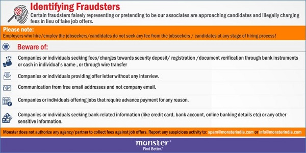 Beware Of Fraud Calls In The Name Of Monster Monsterindia Com
