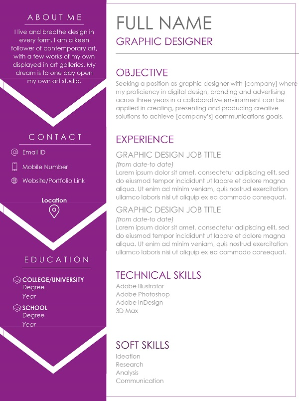 Graphic Designer Resume Sample And Writing Tips Monsterindia Com