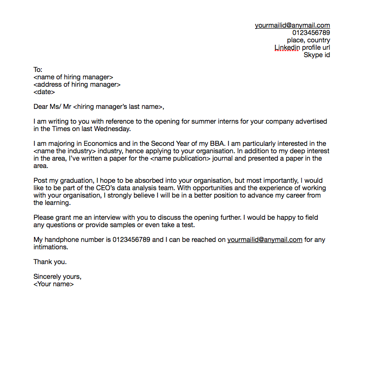 Sample Networking Letter To An Acquaintance from media.monsterindia.com